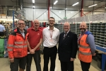 Rupert Matthews MEP with staff in Market Harborough Delivery Office